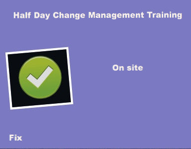Half Day Change Management Training
