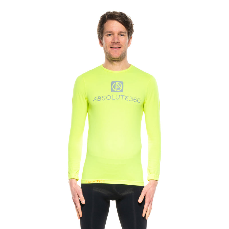 [BE SEEN] Men's Running T-Shirt L/S Crew Neck
