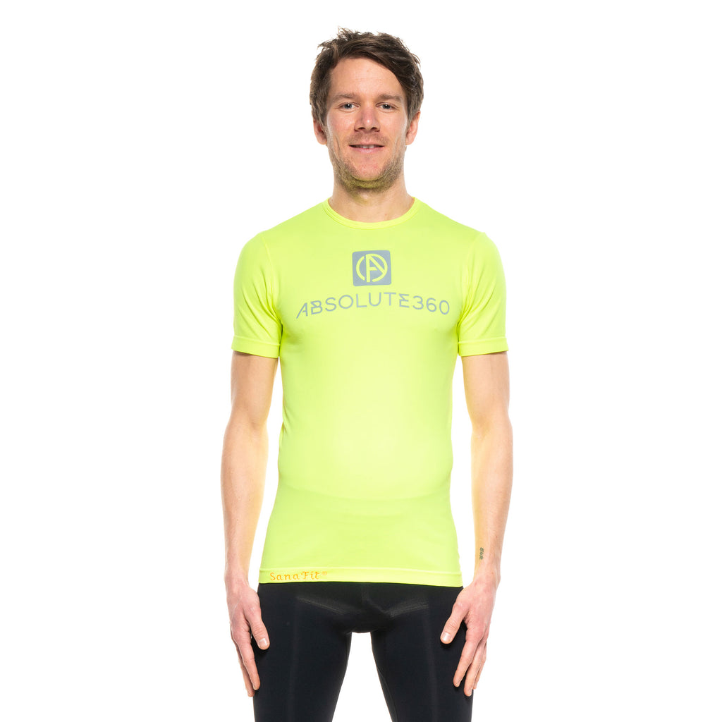 BE SEEN Men's Infrared Running T-Shirt S/S Crew Neck