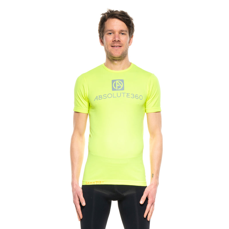 [BE SEEN] Men's Infrared Running T-Shirt S/S Crew Neck