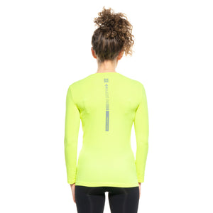 [BE SEEN] Women's Infrared Running T-Shirt L/S Crew Neck