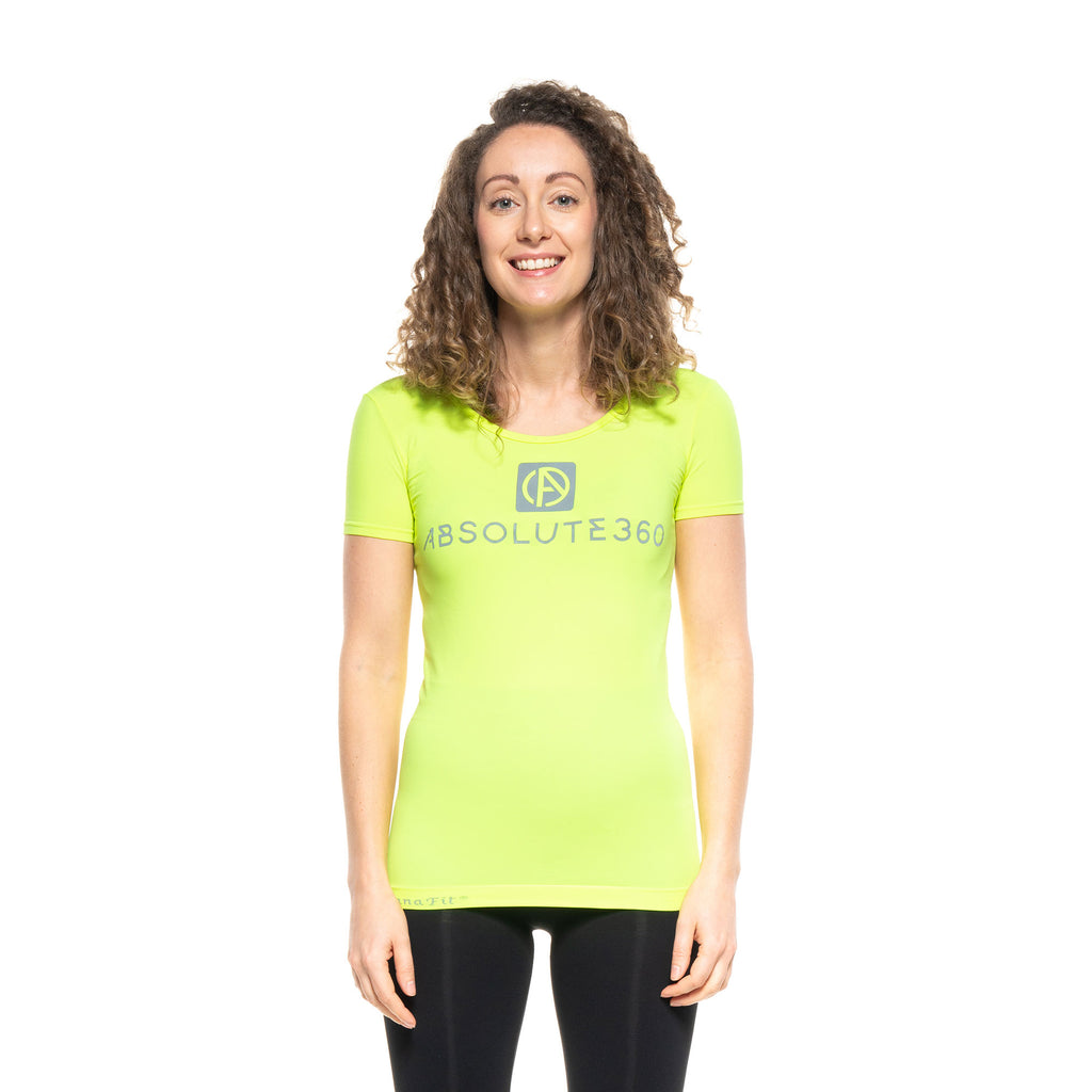 BE SEEN Women's Infrared Running T-Shirt S/S Scoop Neck