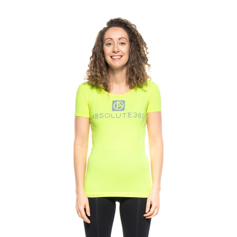 BE SEEN Women's Infrared Running T-Shirt L/S Crew Neck