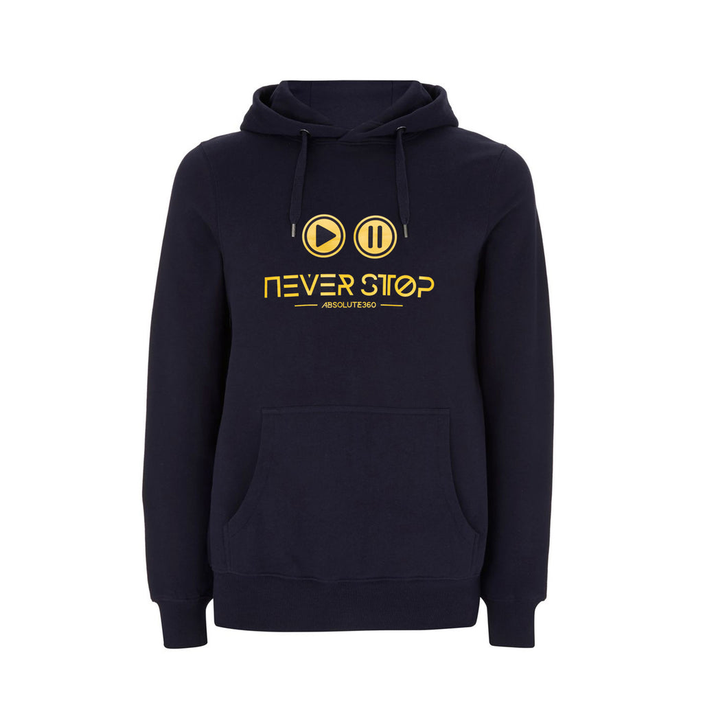 Play Pause Never Stop [ICONS] Hoodie - Unisex