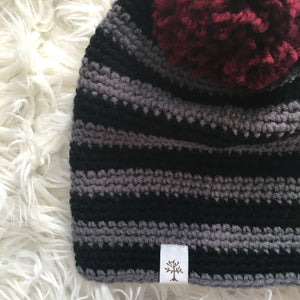 Custom Pompom on Slouch Beanie