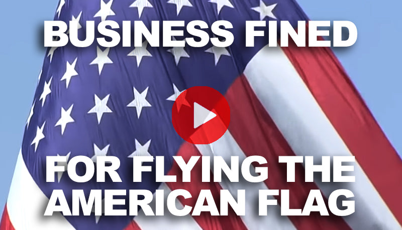 Business fined for flying American Flag