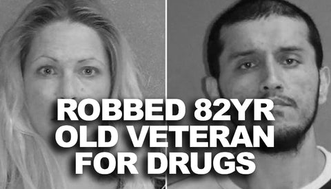 Couple Robs 82 Year Old Veteran For Drugs - Now he's suicidal
