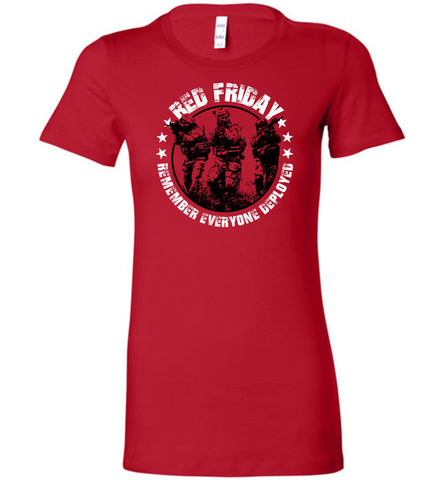 RED Friday Ladies Tee Shirt - Warrior Code