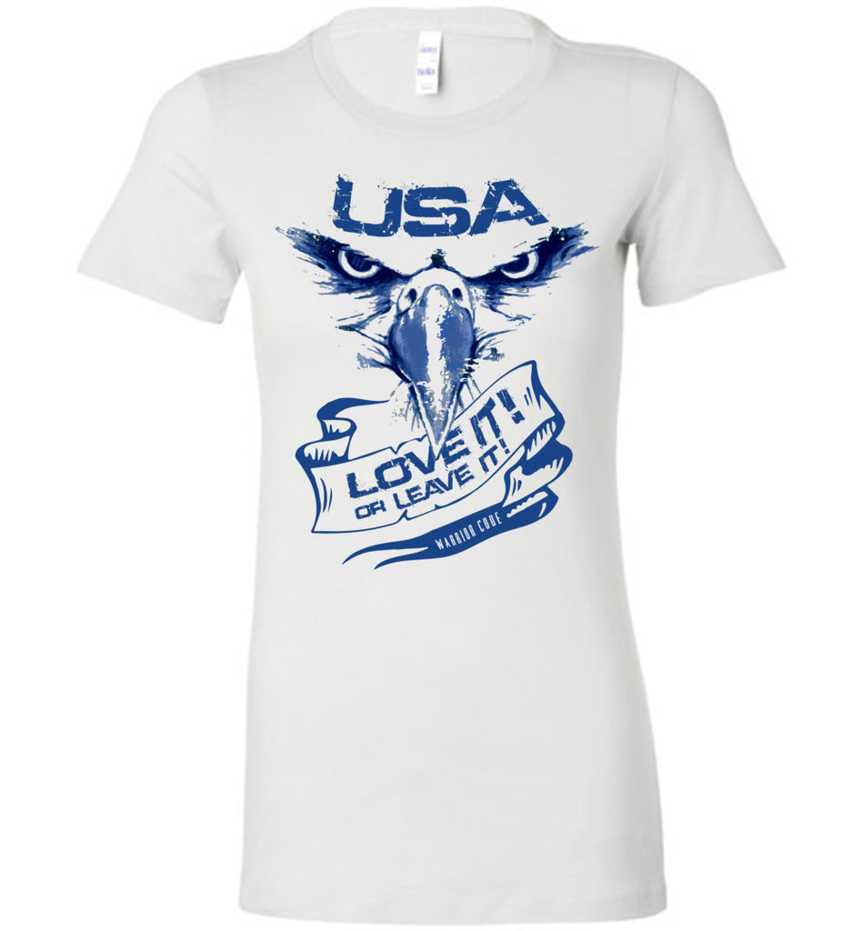 USA Love it or Leave it Women's - Warrior Code