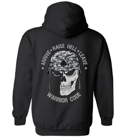 Arrive Raise Hell Leave Hoodie - Warrior Code