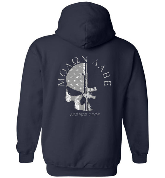 3 Percenter Skull & Gun Hoodies - Warrior Code
