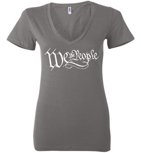 We The People Deep Ladies Deep Vneck - Warrior Code