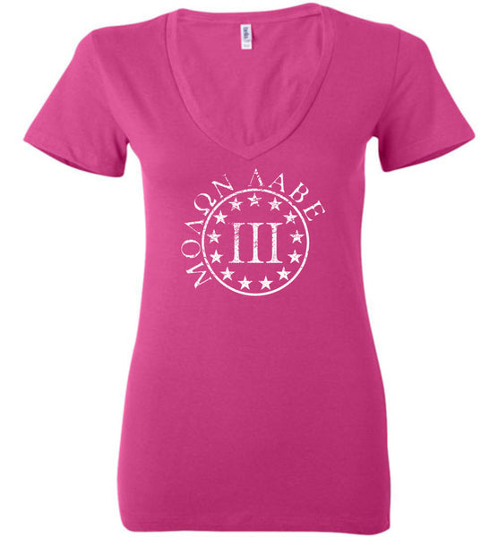 Molon Labe 3 Percenter Ladies Deep Vneck - Warrior Code