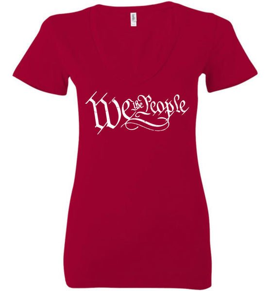 We The People Deep Ladies Deep Vneck