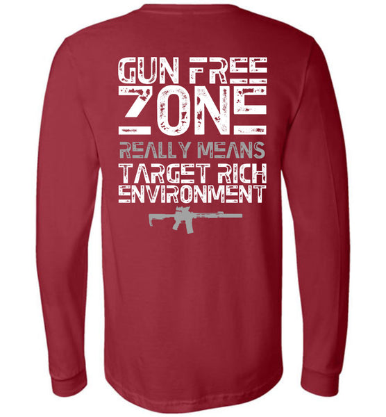 Gun Free Zone Long Sleeve - Warrior Code