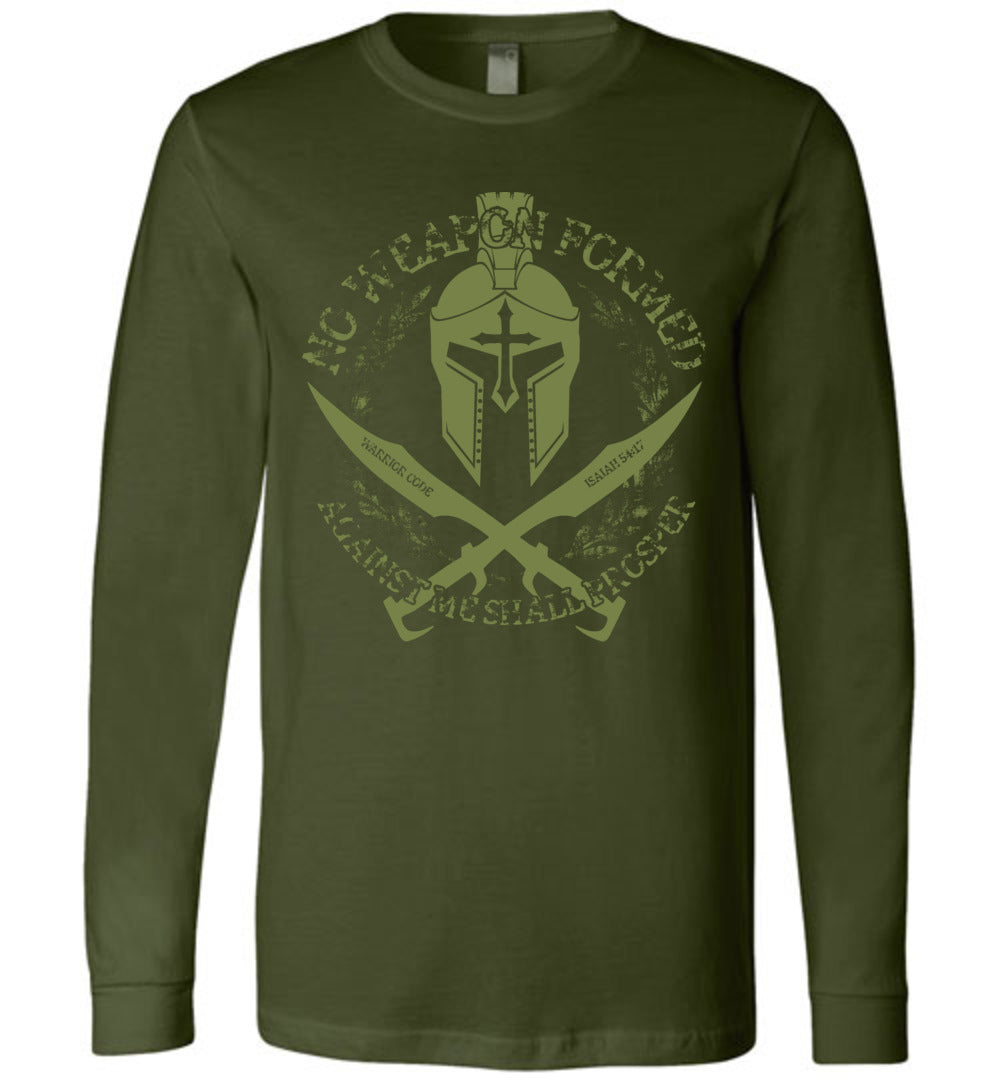 No Weapon Formed Long Sleeve - Warrior Code