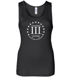 Three Percent Oath Keeper Ladies Tank Top - Warrior Code