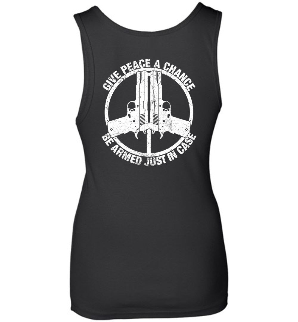 Give Peace A Chance Ladies Tank - Warrior Code