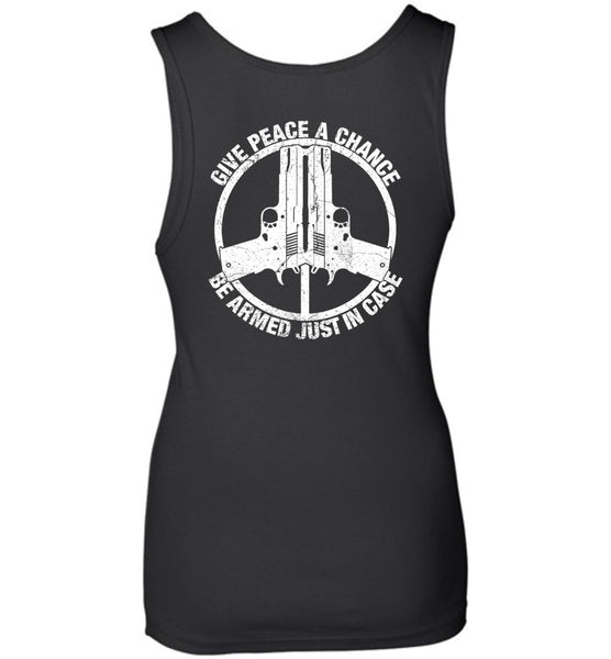 Give Peace A Chance Ladies Tank
