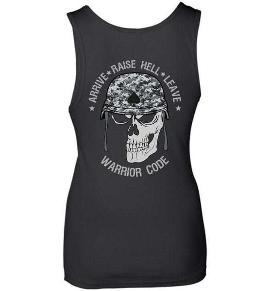 Arrive Raise Hell Leave Women's Shirts - Warrior Code
