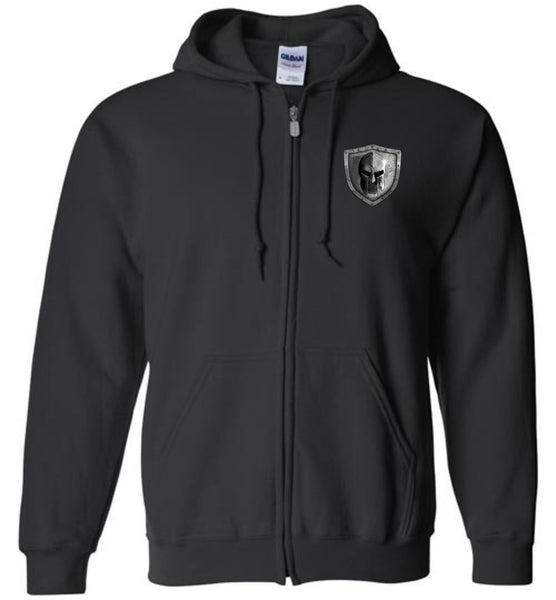 Molon Labe 3 Percenter Zip Hoodie - Warrior Code