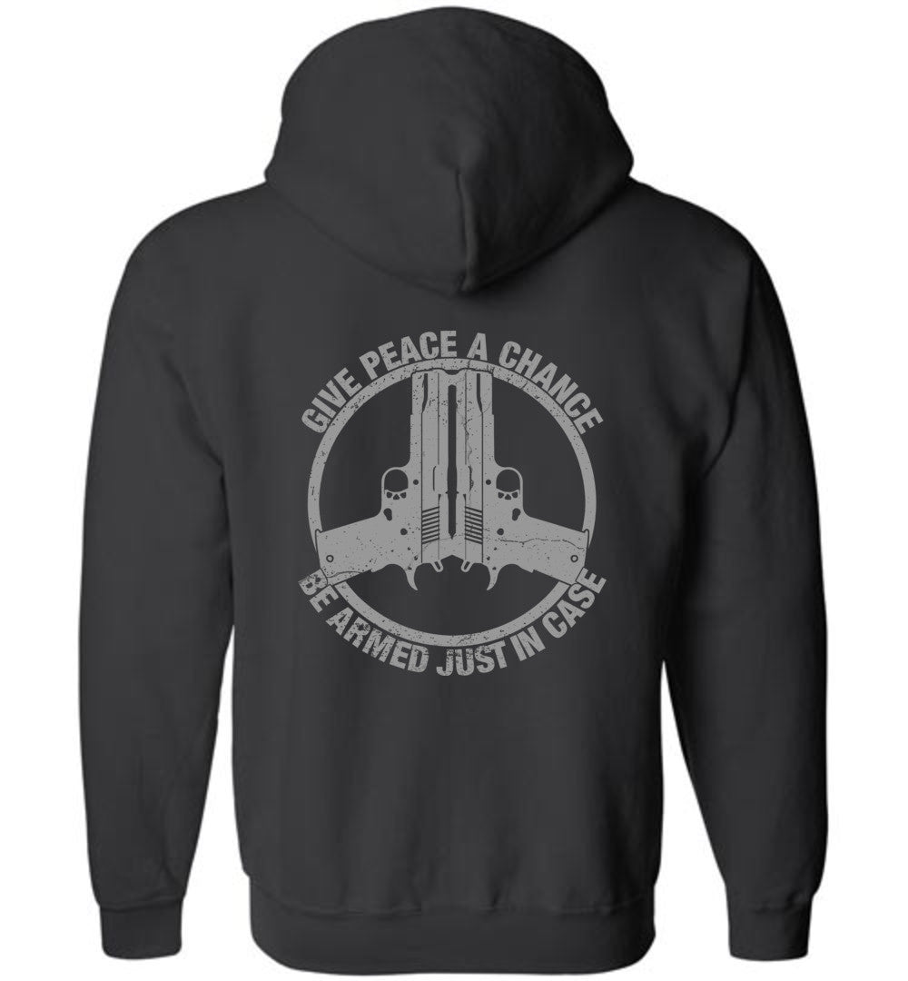 Give Peace A Chance Zip Hoodie - Warrior Code