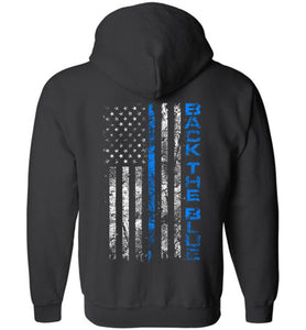 Back the Blue Zip Hoodie - Warrior Code