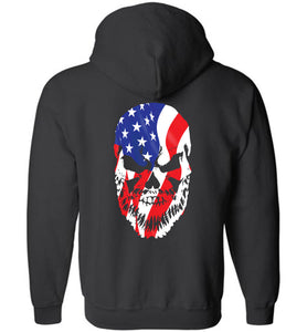 Bearded Patriot Zip Hoodie - Warrior Code
