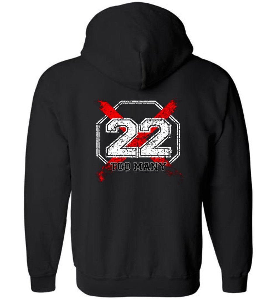 22 Too Many Hoodie - Warrior Code