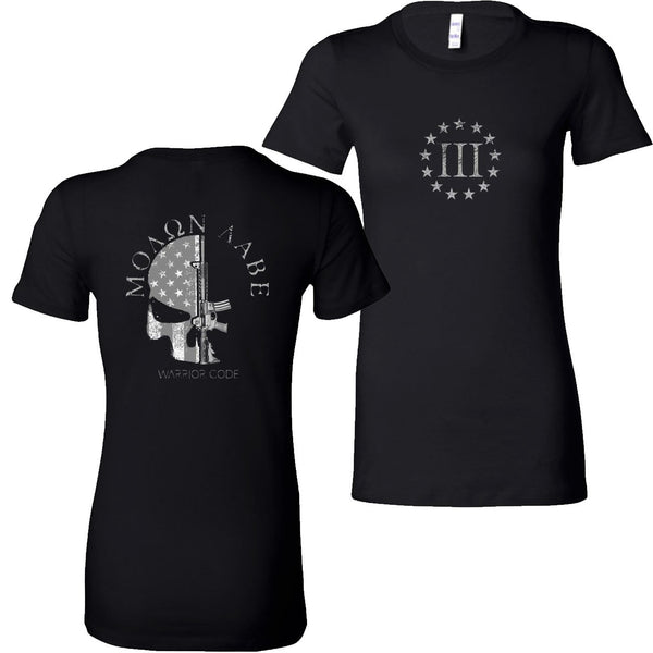 3 Percenter Skull & Gun Ladies Tees