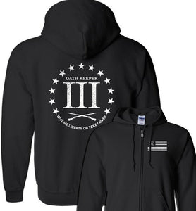 3 Percenter - Oath Keeper Zip Hoodie - Warrior Code