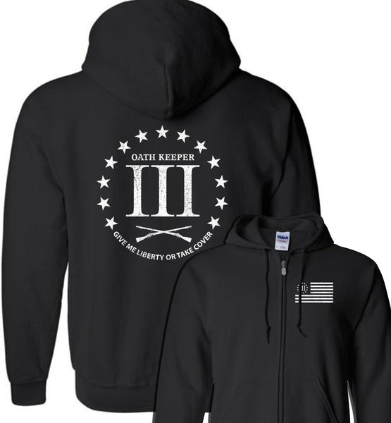 3 Percenter - Oath Keeper Zip Hoodie