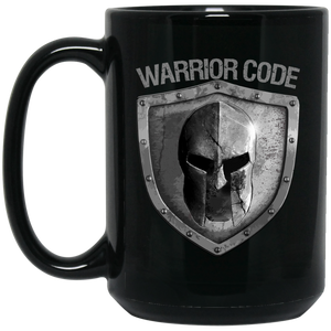 Warrior Code Shield 15 oz. Black Mug - Warrior Code