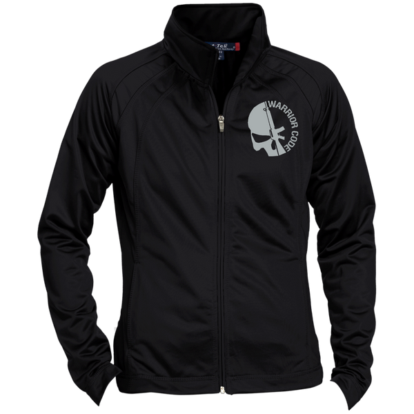 Skull & Gun Embroidered Ladies Raglan Sleeve Warmup Jacket