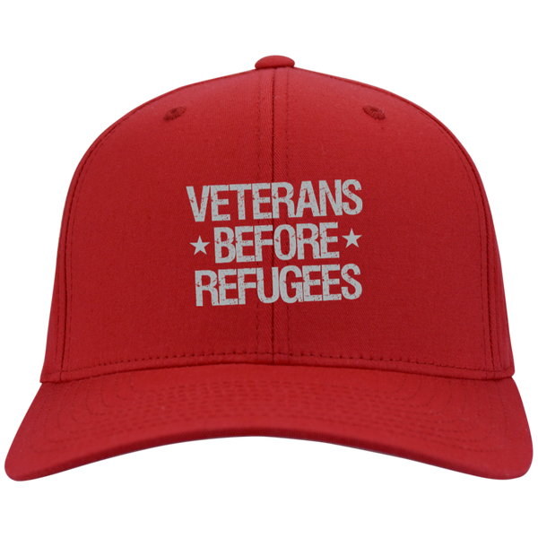 Veterans Before Refugees Dry Zone Nylon Cap - Warrior Code