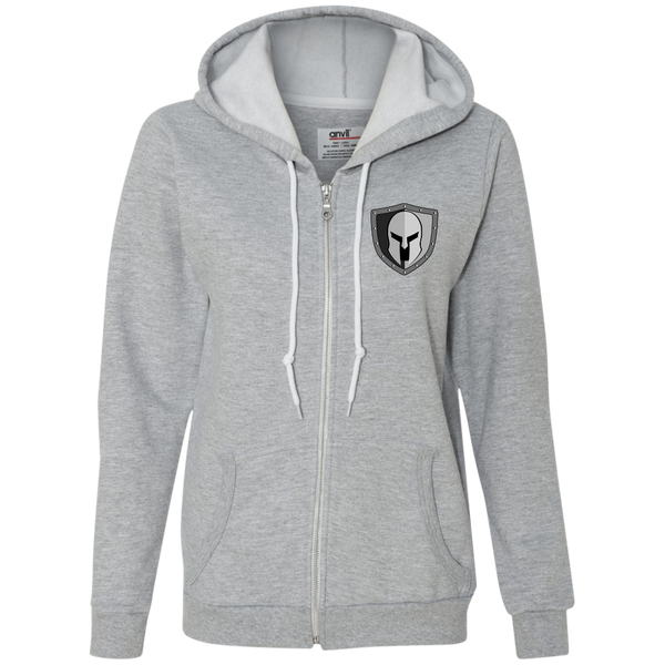 Warrior Code Shield Ladies Full-Zip Hooded Fleece - Warrior Code