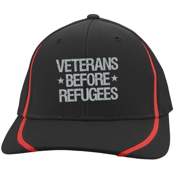 Veterans Before Refugees Flexfit Colorblock Cap - Warrior Code