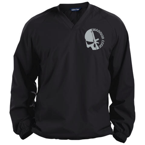 Skull & Gun Pullover V-Neck Windshirt - Warrior Code