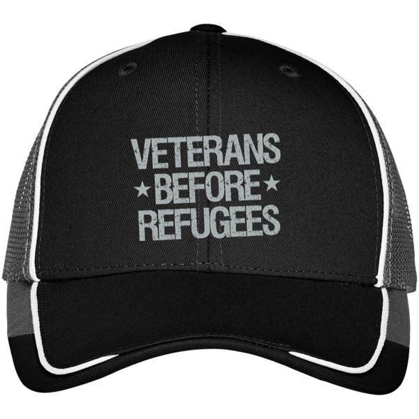 Veterans Before Refugees Colorblock Mesh Back Cap