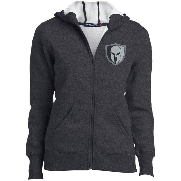 Warrior Code Shield Sport-Tek Ladies' Full-Zip Hoodie