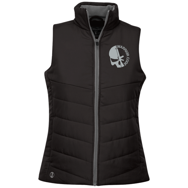 Skull & Gun Embroidered Ladies Quilted Vest