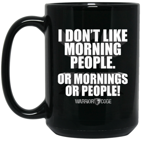 Morning People 15 oz. Black Mug