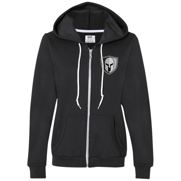 Warrior Code Shield Ladies Full-Zip Hooded Fleece