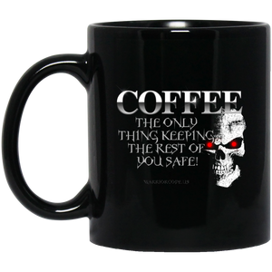 Coffee Keeps YOU Safe 11 oz. Black Mug - Warrior Code