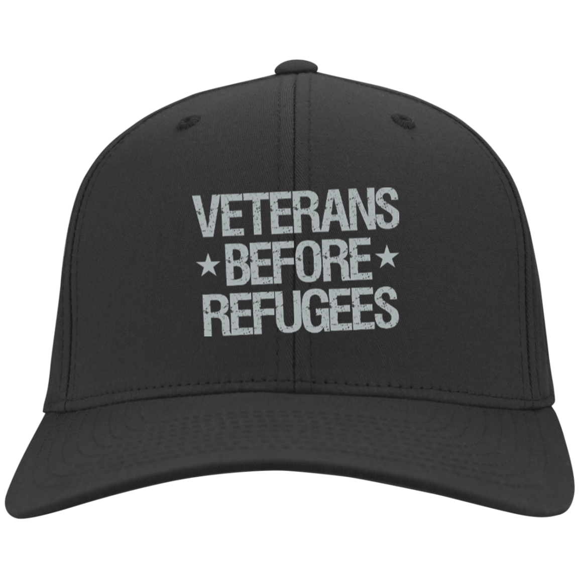 Veterans Before Refugees Flex Fit Cap - Warrior Code