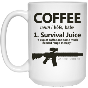 Survival Juice 15 oz. White Mug - Warrior Code