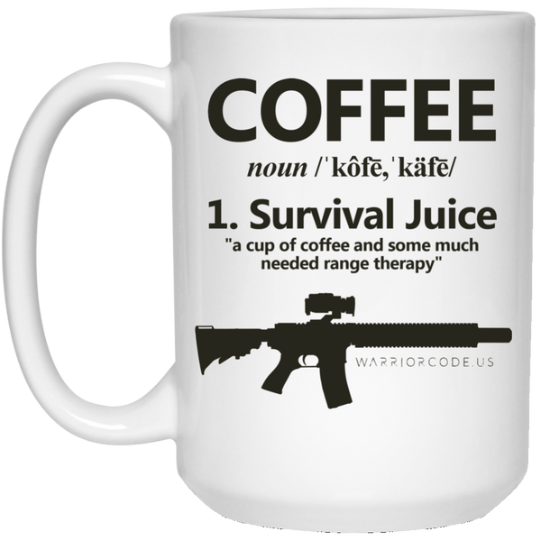 Survival Juice 15 oz. White Mug