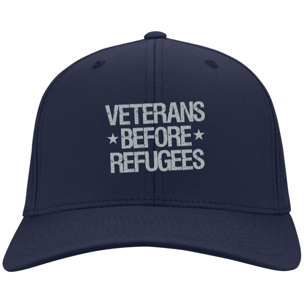 Veterans Before Refugees Dry Zone Nylon Cap