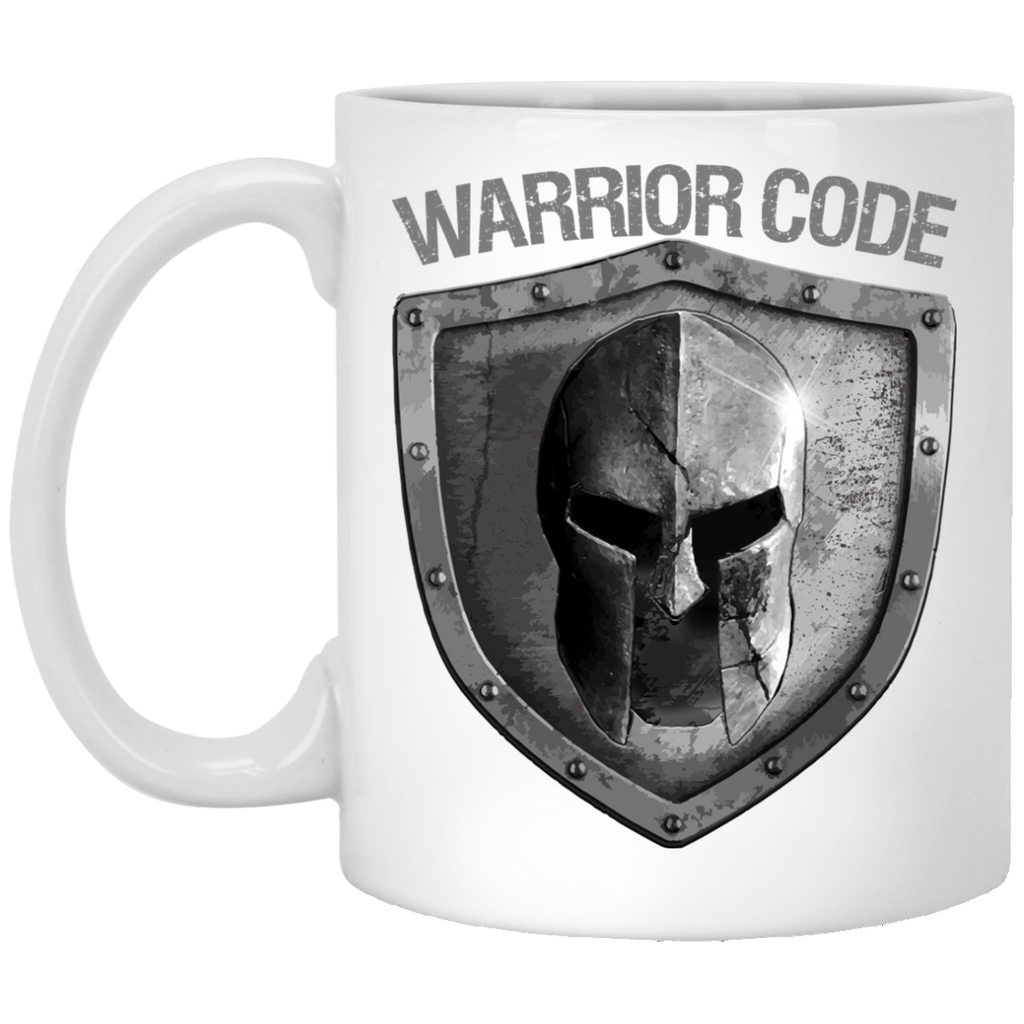 Warrior Code Shield 11 oz. White Mug