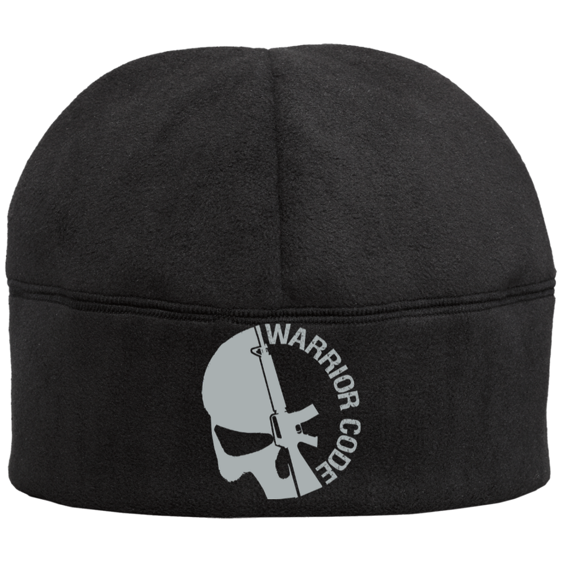 Skull & Gun Fleece Beanie - Warrior Code